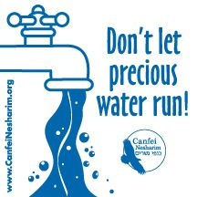 Water saver decal