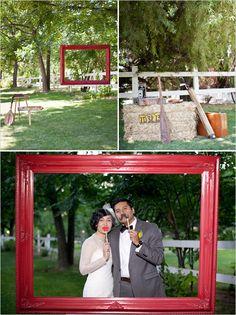adore wedding color scheme & photo booth ideas