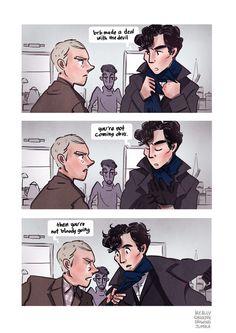 Accurate (by ireallyshouldbedrawing) Sherlock Meme, Sherlock Holmes Bbc, Watson Sherlock, Sherlock John, Benedict And Martin, Sherlolly, Arthur Conan Doyle, John Watson, Johnlock