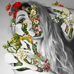 collage-visage-fleur-03 - La boite verte
