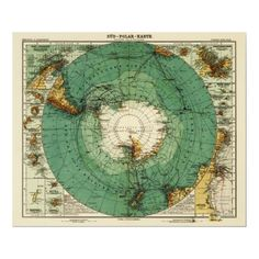 Antarctica Panoramic MapAntarctica Poster by LanternPress from Zazzle