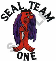 SEAL TEAM ONE embroidery design