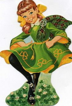 Vintage St Patrick's Day Dancing Lassie – looks like my friend Gaeil St Patricks Day Cards, Happy St Patricks Day, Saint Patricks, Vintage Greeting Cards, Vintage Postcards, Erin Go Braugh, Irish Blessing, St Paddys Day, Irish Celtic