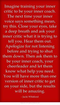 """Inner Critic ~ New """"Inner Coach"""""""