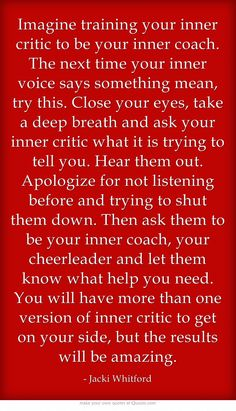 "Inner Critic ~ New ""Inner Coach"""