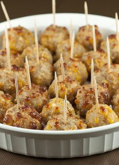 Sausage Cheese Balls make for the perfect little appetizer to serve to your guests at any holiday party, football party, and especially for New Year's Eve.