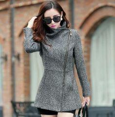 Autumn Winter Women's Temperament Woolen Jackets Coats Female Casual Clothing Fashion Women Slim Jackets Coats