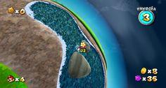 Super Mario Galaxy 1080p - Efecto del agua
