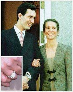 Princess Elena of Spain turned up at the announcement of her engagement to Jaime de Marichalar wearing a ring with a sizable diamond said to have been taken from a tiara belonging to her future husband's family. Infanta Margarita, Royal Rings, Royal Jewels, Royal Engagement Rings, Royal Christmas, Richest In The World, Save The Queen, Royal Weddings, Future Husband
