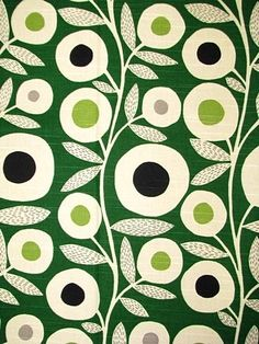 abstract floral : green : Ingrid Emerald