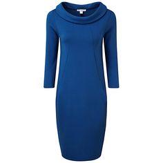 Buy Pure Collection Allenbury Bardot Dress, Cobalt Online at johnlewis.com