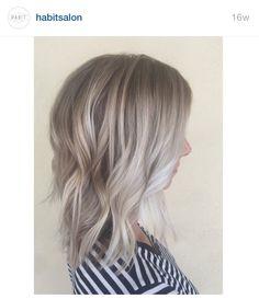 Ash blonde hair with platinum balayage from @habitsalon