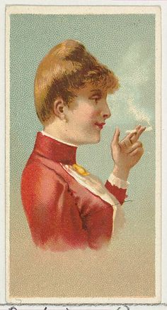 Issued by Allen & Ginter (American). Russian Lady, printer's sample from World's Smokers series (N33) for Allen & Ginter Cigarettes, 1888. The Metropolitan Museum of Art, New York. The Jefferson R. Burdick Collection, Gift of Jefferson R. Burdick (63.350.202.33.20)