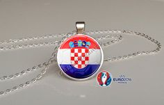 France 2016 Euro Cup Croatia Group D Pendant by Glassfulldreams