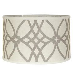 Trellis drum lampshade. $69.00 (Probably wouldn't be too difficult to DIY with a stencil.)