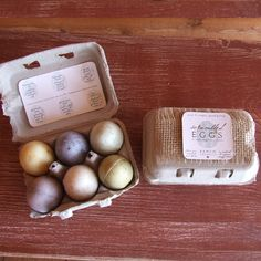 """NEW from our Holiday 2012 Collection: Scrambled Eggs    A natural and organic soapy treat. Our """"Ranch to Tub"""" hand-gathered eggs are nestled in an adorable 6-egg carton ready for gift giving.  Enjoy all of our 6 soaps infused with the best ingredients from nature. From """"Our Ranch to Your Home.""""  SCENTS: Sunnyside Up, Lavender Buds, Grassy Greens, Perfectly Pear, Mountain Goat, Very Verbena"""