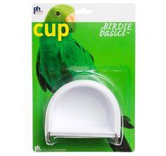 Prevue Hendryx Birdie Basics Hanging Half-Round Bird Cage Cup - Large