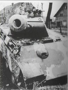 Panther tank - a view not many would live to remember