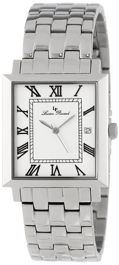 Lucien Piccard Men's LP-10501-22 Bianco Silver Dial Stainless Steel Watch ** You can find more details by visiting the image link.