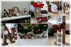 C'est avec mes lettres scrappées, en déco sur la cheminée, que je vous souhaite de passer d'agréables fêtes de fin d'année en commençant pa...