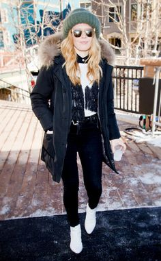 Natasha Lyonne from How to Dress for Sundance  Whoever said bundling up isn't chic clearly hadn't seen these outfits.Whether you're actually headed to Sundance 2017 or you're just looking for some cold-weather closet inspo,celebs like Natasha Lyonne served up some epic looks at last year's film festival. And we're here to break them down.The Orange is the New Black actress knows how to layer. Take her advice and start with a super-warm coat then add pieces as you see fit!