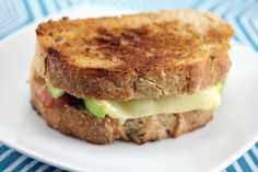 Brie Grilled Cheese with Fig Spread, Green Apple, and Prosciutto