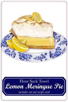 Lemon Meringue Pie 100% Cotton Flour Sack Dish Towel Tea Towel