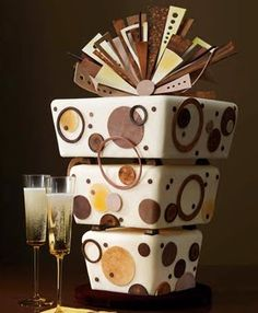 Cake Wrecks - Home - Sunday Sweets: Fun Wedding Cakes Deco Wedding Cake, Funky Wedding Cakes, Amazing Wedding Cakes, Amazing Cakes, Whimsical Wedding, Modern Cakes, Unique Cakes, Creative Cakes, Elegant Cakes