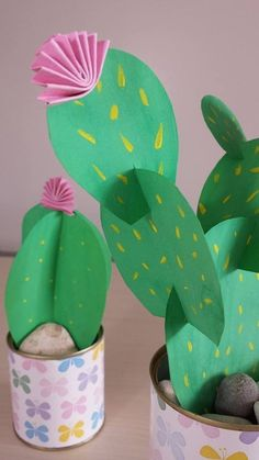 Spring Flowers for Prickly Black Thumbs: 7 Paper Plant & Cacti Projects Apartment Therapy Diy And Crafts, Crafts For Kids, Arts And Crafts, Cactus Flower, Cactus Plants, Cactus Craft, Paper Plants, Spring Flowers, Black Flowers