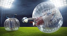 "1.0m 1.2m 1.5m 40""/48""/59"" Inflatable Bumper Soccer Ball Bubble Ball Blower Up"