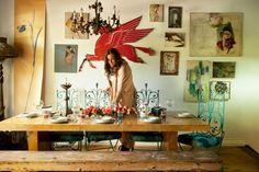 A Star Designer Invites Us Into Her Dreamy Little BK Cottage. anna corinna of foley + corinna's apt.