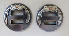 "Pair of New Handmade ROBERT EVANS 1 ¼"" Slotted Conchos"