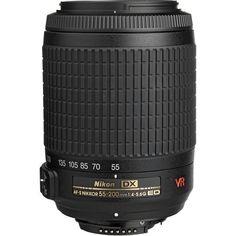 Nikon AF-S DX VR Zoom-Nikkor 55-200mm f/4-5.6G IF-ED Lens side