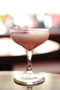 Cocktail Friday – Haru's Cherry Blossom Cocktail  Perfect for a Door County Wedding!  :)