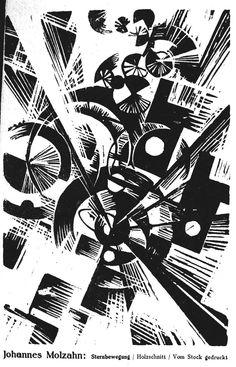 Love Dada!! Der Sturm, Oct 1919. Wood engraving by Johannes Molzahn