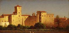 Villa Malta à Rome de Sanford Robinson Gifford (1823-1880, United States)