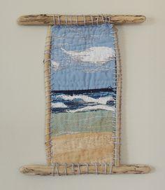 "Mini Textile Art Quilt ""Drifting"" by bekahdu"