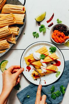 AMAZING Sweet Potato Black Bean Tamales! #plantbased 10 ingredients, simple methods, PERFECT tamales! #glutenfree #sweetpotato #tamales #recipe #minimalistbaker Baker Recipes, Vegan Recipes, Drink Recipes, Dinner Recipes, Kitchen Recipes, Vegan Pulled Pork, Vegan Sour Cream, Minimalist Baker, Potato Vegetable