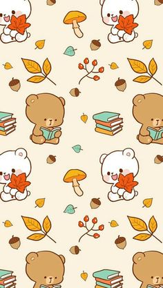 23 ideas drawing love kiss couples kawaii for 2019 Wallpaper Wall, Bear Wallpaper, Fall Wallpaper, Kawaii Wallpaper, Wallpaper Doodle, Wallpaper Quotes, Cute Bear Drawings, Cute Kawaii Drawings, Kawaii Doodles