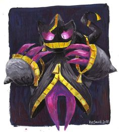 Art by Kyosmash Ghost Pokemon, Pokemon Funny, Pokemon Memes, Pokemon Fan Art, Banette Pokemon, Pokemon Original, Ghost Type, Mega Evolution, Dream Team