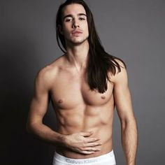 Long Haired Male Stripper Naked Gay We