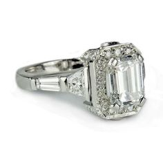 Emerald Cut Engagement Rings Gold 26