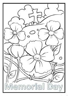 Memorial Day coloring pages for kindergarten, preschool, firstgrade. Enjoyable free printable Memorial day coloring pages ideas for kids. Remembrance Day Activities, Remembrance Day Poppy, Poppy Craft For Kids, Art For Kids, Free Printable Coloring Pages, Coloring Pages For Kids, Coloring Sheets, Free Colouring Pages, Kids Coloring
