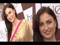 Elli Avram in SAREE at Hue Spring Summer Collection launch.