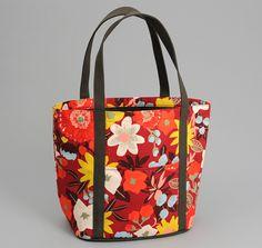 BIG CRAZY FLORAL PRINT HEAVY DUTY TOTE BAG, RED :: HICKOREE'S Homemade Bags, Diaper Bag, Floral Prints, Tote Bag, Big, Fabric, Tejido, Floral Patterns, Tela