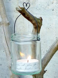 <3... jar ... wire ... candle - can totally hang in the vining maples in our backyard! :D