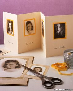 A genius idea for a last-minute Mother's Day gift: a family tree photo card.