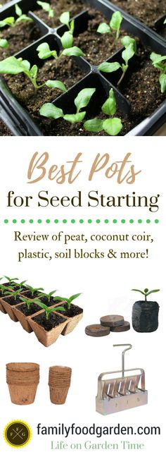 What are the best pots for planting? This is a common question for seed starting. The best planting pots will depend on if you want biodegradable pots or not. Pots for planting include using store bought pots, toilet paper rolls or eggshells. Review of peat pots, plastic pots, coconut coir, soil block makers and more