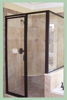 The Frameless Neo Angle Shower Enclosure Is Highlighted In