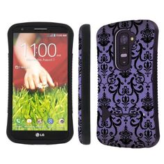 LG G2 ( Verizon, AT&T , T-Mobile , Sprint ) Ultra Shock Absorbent Tough Grip Black Case with Kickstand By SkinGuardz - Purple Vintage Flow, http://www.amazon.com/dp/B00G8Q3NE0/ref=cm_sw_r_pi_awdm_suQ9sb0SP3Y8F